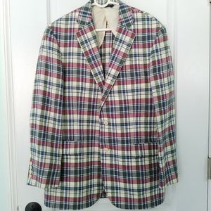Brooks Brothers Madras Linen Jacket Baird McNutt